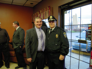 Selectman Pacheco with Raynham Police Chief Lou Pacheco (Retired).