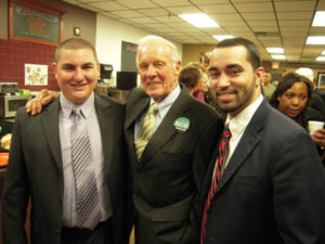 Joe with Rep. Dave Flynn and Brandon Ferris during the 2010 kick-off.