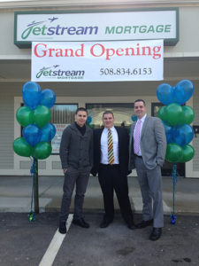 Selectman Pacheco joining Raynham business leaders for the grand opening of JetStream Mortgage.