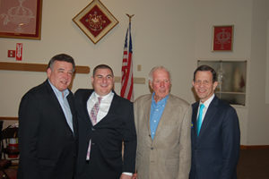 Selectman Pacheco along with Sen. Marc Pacheco, Former Rep David Flynn and Former State Treasurer Steve Grossman